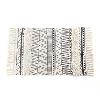 Nordic Style Simple Cotton Carpets For Living Room Bedroom Rug Special Tassel Fashion Rug Door Mat Sofa Table Chair Mat Area Rug