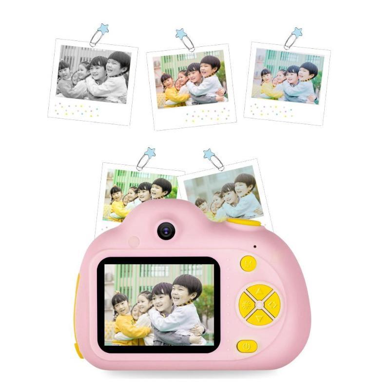 2 pouces HD écran numérique Mini jouet caméras pour enfants + lecteur de carte mémoire carte automatique photographie prise de Photo vidéo - 4