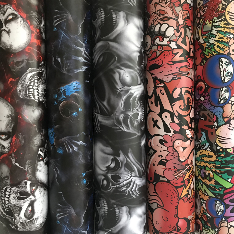 50x300 Cm Graffiti Skull Car Sticker Decal Camouflage Sticker Bomb Vinyl Car Wrap Foil Air Drain Car Motorbike Sticker Wrapping
