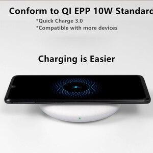 Image 4 - オリジナルシャオ mi ワイヤレス充電器 20 ワット最大ターボ充電 27 ワットプラグ mi ため 9 チー EPP と互換性 10 ワット iphone XS XR XS 最大