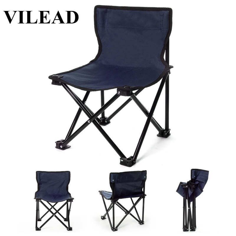 Image 1 - VILEAD Folding Camping Chair One piece design Portable Fishing Picnic Beach Outdoor Garden Seat High Load Ultralight 32*32*34 cm-in Camping Chair from Sports & Entertainment