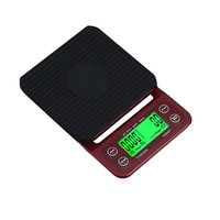 SANBEI 3kg 0.1g Red Drip Digital Coffee Scale With Timer Electronic High Precision LCD Electronic Weighing Scale