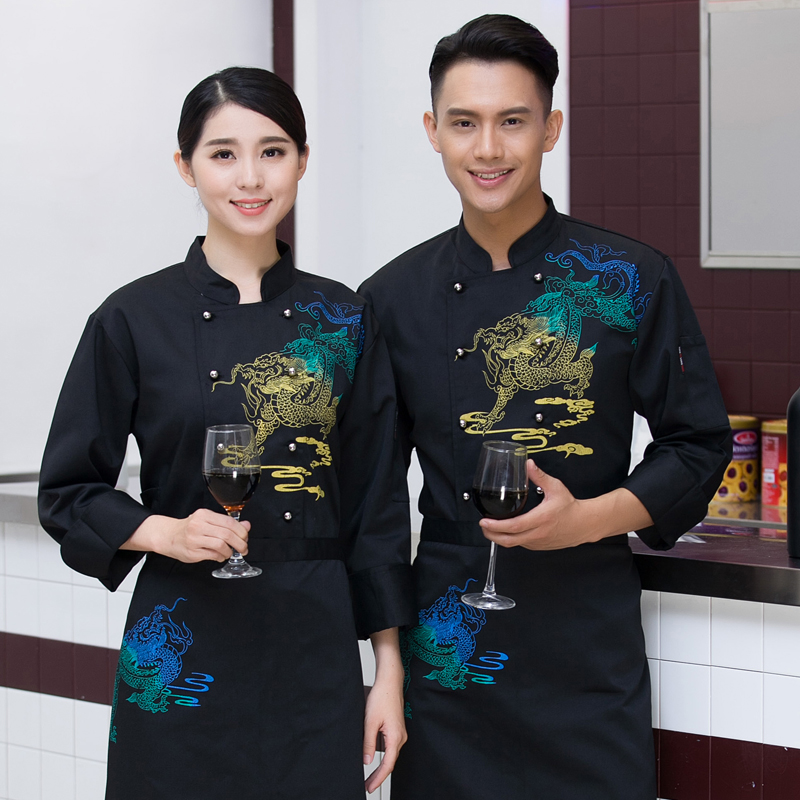2018 summer chef uniforms chefs clothing for men women work food services cooking costume coat long sleeve white