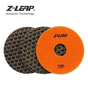 Алмазные гибкие диски для сухой полировки, 3 шт., 5 дюймов, высшего качества, шлифовальный диск для гранитной мраморной плитки