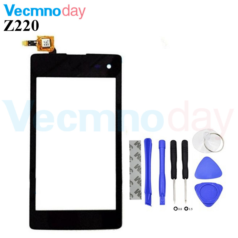 Vecmnody 4.0 Black Front Panel Touch Screen For Acer Liquid Z220 Digitizer sensor Mobile Phone glass display Replacement