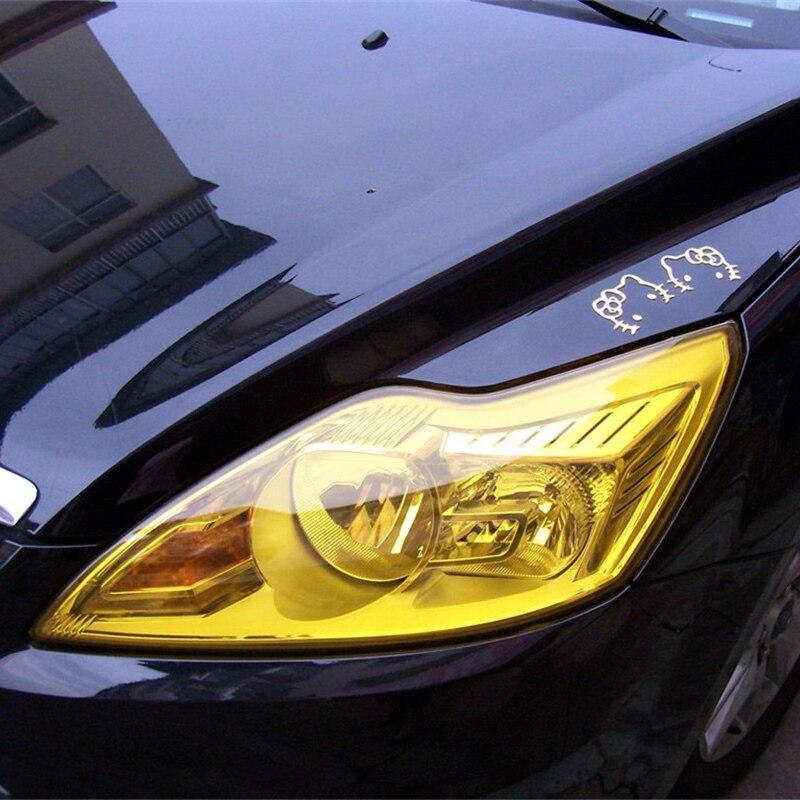 Super Glossy Car Headlight Fog Tail Light Tint Vinyl Light Film