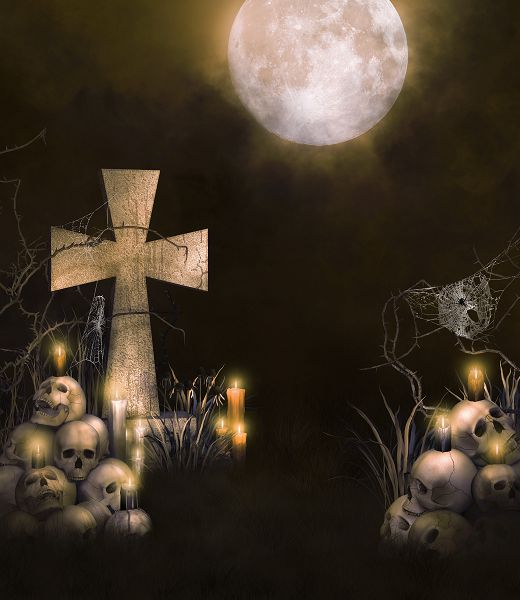 200cm*150cm photography backdrops Full moon night cemetery skull halloween backdrop fundo fotografico WSJ-038 215cm 150cm fundo stars in the night sky3d baby photography backdrop background lk 2161