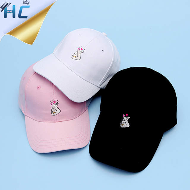 746080b1e9b Fashion Kpop Baseball Cap Finger Fish Owl Cactus Chips Embroidery Snapback Cap  Hats For Women Black