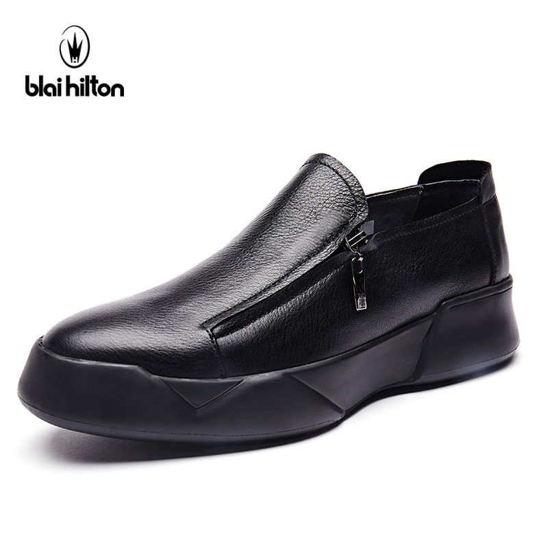 Blai Hilton New Fashion Spring/Autumn men shoes Genuine Cow Leather shoes Breathable/Comfortable Men's Casual Shoes 2017 new spring british retro men shoes breathable sneaker fashion boots men casual shoes handmade fashion comfortable breathabl