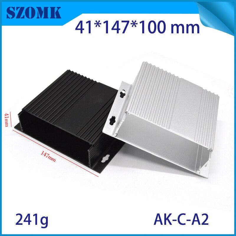 1piece Aluminum extrusion enclsoureDIY Electrical Junction Box Case for Electronics Design PCB Hardware Device 41x147x100mm