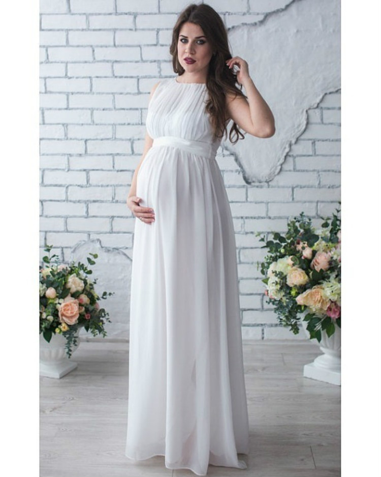 Pregnant Women Dress Maternity Photography Props Sleeveless Pleated Long Dress for Pregnancy Party Princess Maternity Clothes ...