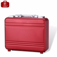 Metal briefcase Business computer Portable Metallic Aluminum briefcase Laptop lawyer 14inch