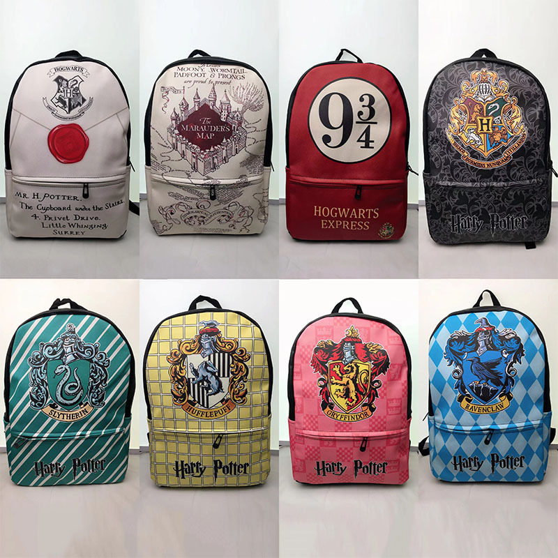 New Harry Potter Schoolbag Harry Potter Hogwarts College Backpack PU Leather Printed Student School Bags Travel BackpacksNew Harry Potter Schoolbag Harry Potter Hogwarts College Backpack PU Leather Printed Student School Bags Travel Backpacks