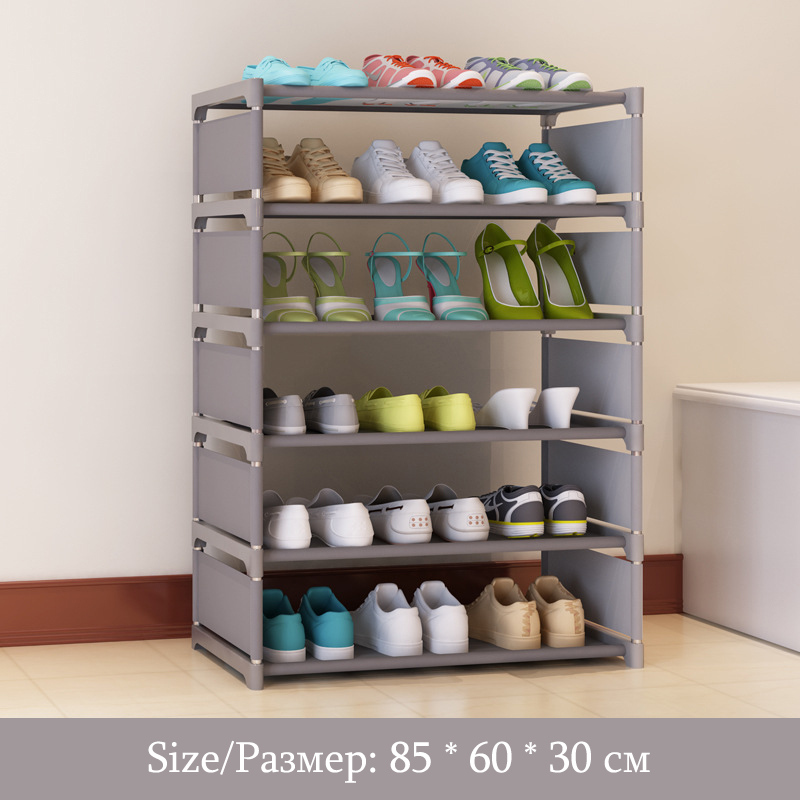 Simple Fashion Six Layers Multi Purpose Shoe Rack Non Woven Cloth Iron Metal  Shoe Storage Cabinet Book Shelf Toy Storage Locker In Shoe Cabinets From ...