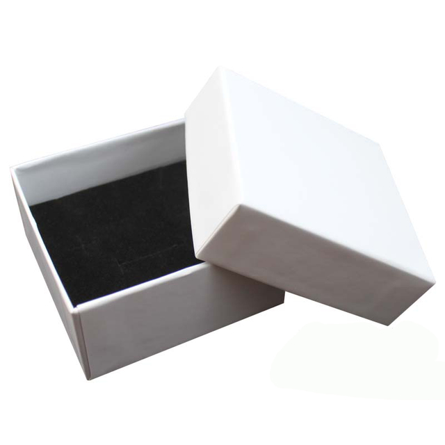 Necklace packaging white jewelry box bag jewelry display without