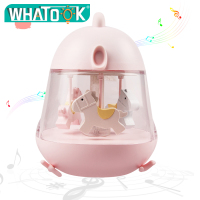 Unicornio Led Night Lights Party Decor Lamp 7 Color Change Carousel Hand Crank Music Box Mechanism Baby Birthday Christmas Gift
