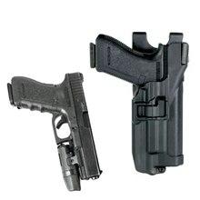 LV3 Tactical Gun Holster Glock 17 Belt Military Army Pistol Carry Case For 19 22 23 31 32 Light Bearing