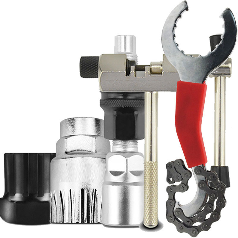 Mountain Bike Bicycle MTB Repair Tool Kit Bottom Bracket Remover Bike Chain Breaker Crank Extractor Bottom Crank Bracket Removal