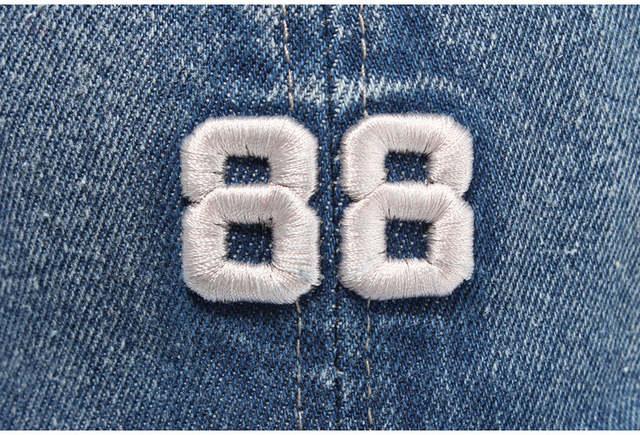 0263959e465  LIBERWOOD  Men Women denim fabric jean Baseball Cap embroidery 88 adult  casual Hat Sports