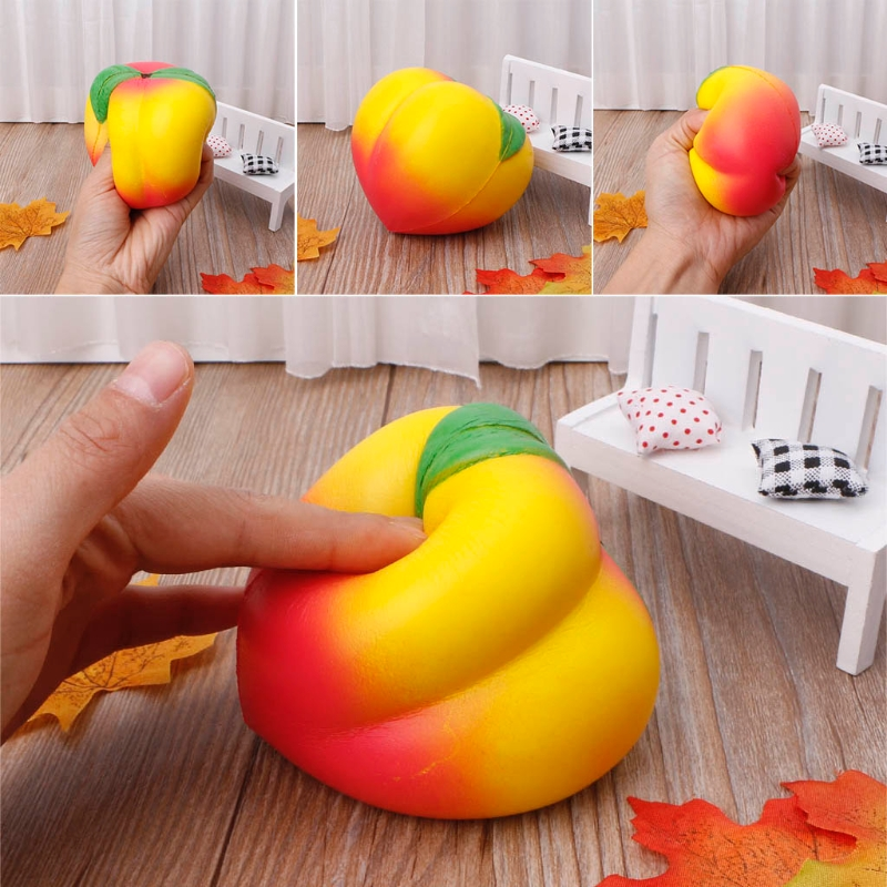 Stress Relief Doll Squeeze Squishy Peach Cream Scented Slow Rising Toys Soft