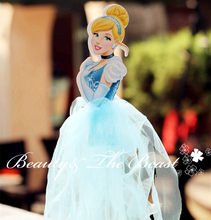 12'' High Princess Cinderella Cake Toppers Cupcake Accessory Tutu Cake Table Party Supplies Birthday Party Decorations Kids(China)