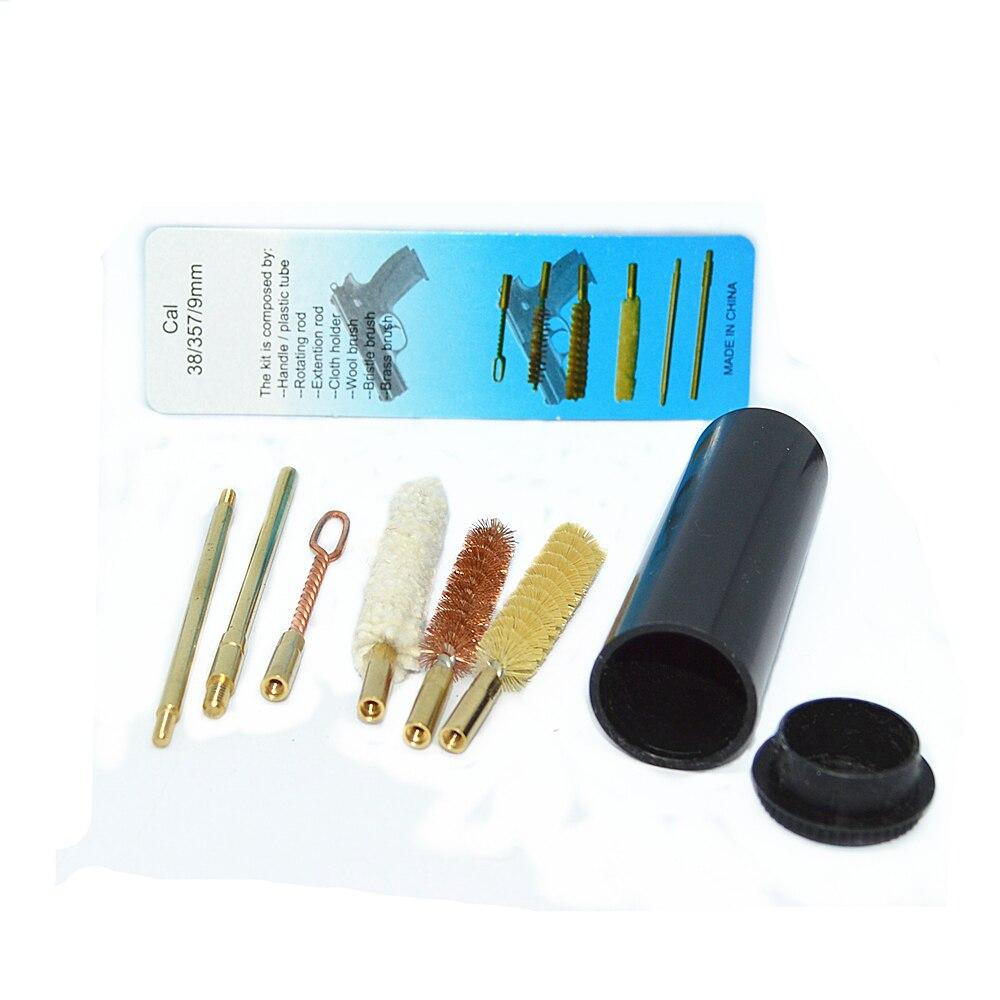 Пистолеты cal.38/357/9 мм пистолет набор чистящих средств для ухода за стержень кисти профессиональный инструмент для очистки пистолета 7 шт./компл