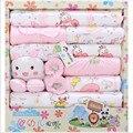 100% algodón de verano de regalo recién nacido bebé niñas ropa bebé ropa interior bebé de 18 unidades Fit 0-12 meses
