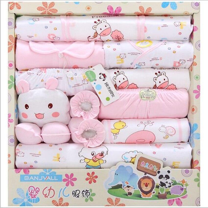 100% cotton summer newborn gift sets baby girls clothing baby boy infant underwear 18 piece Fit 0 12 month