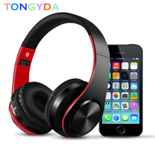 цена на Stereo Earphones HIFI Bluetooth Headphone With MIC Support TF FM Radio Bass Music Headset FM And Support SD Card For Iphone