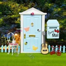 1:12 Кукольный домик Миниатюрный Сказочный дверной светильник синий снаружи открытый куклы части модный подарок 3 стиля Аксессуары