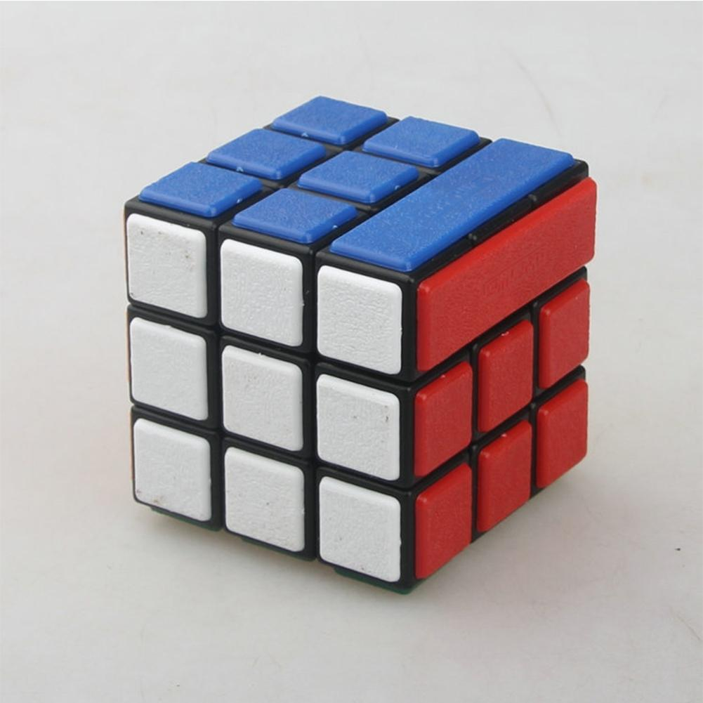 LeadingStar DIY Bandaged Cube Black Magic speed Cube with 72Pcs Plastic Color Stickers Brain Teaser Puzzle Cube for Magic zk40