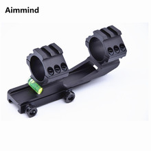 Tactical Riflescope 30mm Scope Mount Ring Mount with Spirit Bubble Level Fit 20mm Picatinny Rail for Hunting vector optics rogue 2 6x32 aoe hunting riflescope with 25mm mount ring sunshade flipup cap