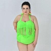 WATER PRINCESS Bikini 2017 Plus Size Swimsuit High Waist Swimwear Tassels Women S Swimming Suit Summer