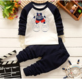 Free shipping! 2016 new winter children lovely Cartoon cotton long-sleeved track suit  set Children set baby set