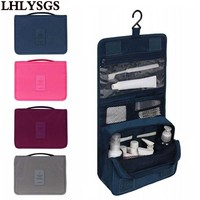 LHLYSGS Brand Women Waterproof Hanging Cosmetic Bag Men Travel Portable Makeup Bag Organizer Beauty Make Up