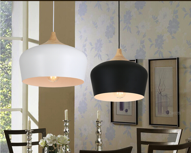 Moderne Keuken Lampen : Nieuwe moderne zwart wit aluminium hanglamp keuken lampen eetkamer