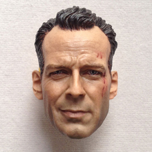 цена на 1/6 Scale Bruce Willis Head Sculpt Models Toys Gifts Damage Version   for 12''Action Figures Bodies