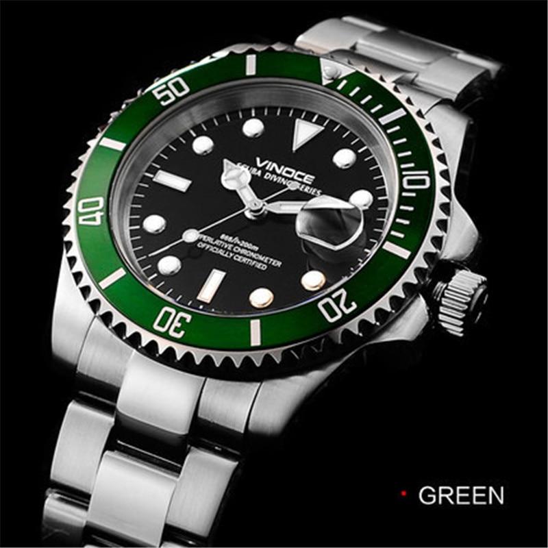 200 metrów wodoodporne zegarki nurkowe ze stali nierdzewnej sport - Męskie zegarki - Zdjęcie 5