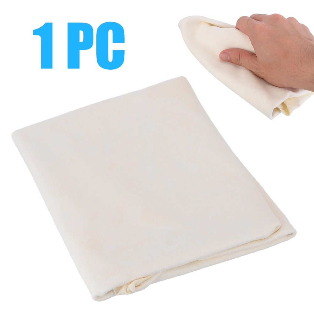 1pc 30*60cm Natural Shammy Chamois Leather Car Cleaning Cleaner Soft Towel Drying Washing Cloth Dirty Removal Handle Tool-in Sponges, Cloths & Brushes from Automobiles & Motorcycles