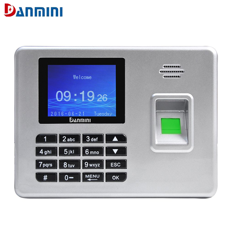 DANMINI 2.8 Inch TFT Color Screen Free-software Fingerprint Recorder Employee Time Attendance Machine Time Clock Recorder biometric a6 2 4 inch tft usb 32bit cpu fingerprint time attendance machine clock record noneed software