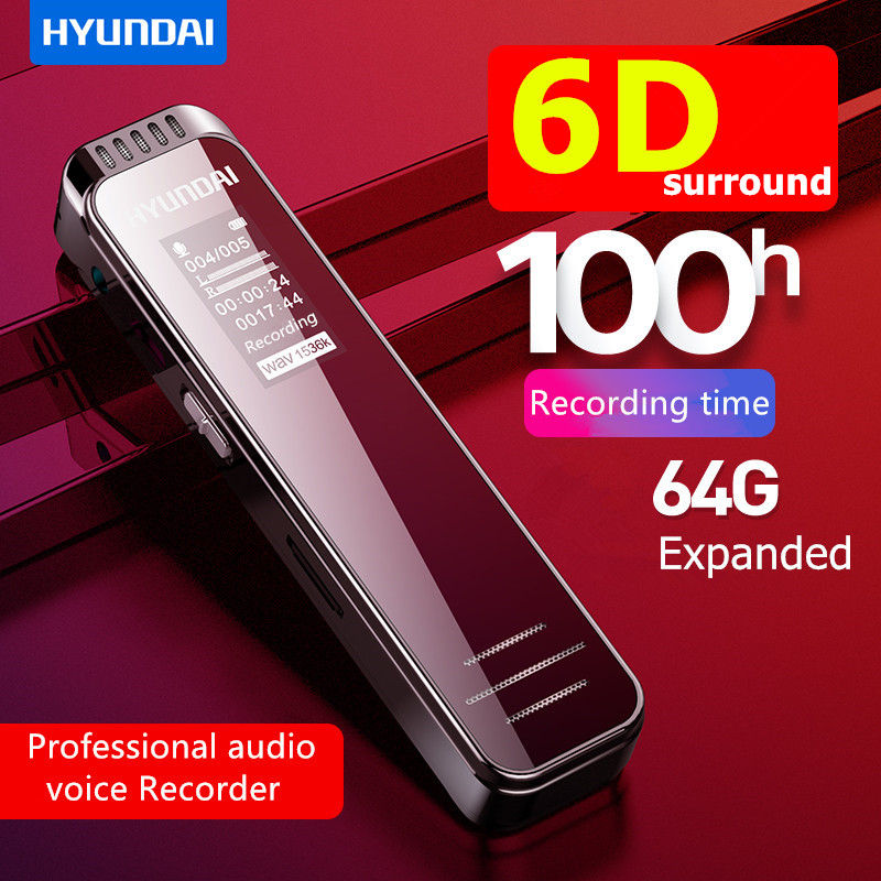 K701 Professional Dictaphone voice activated Recorder with AGC 1536Kbps PMC long time denoise Hifi mini DSD MP3 player speaker