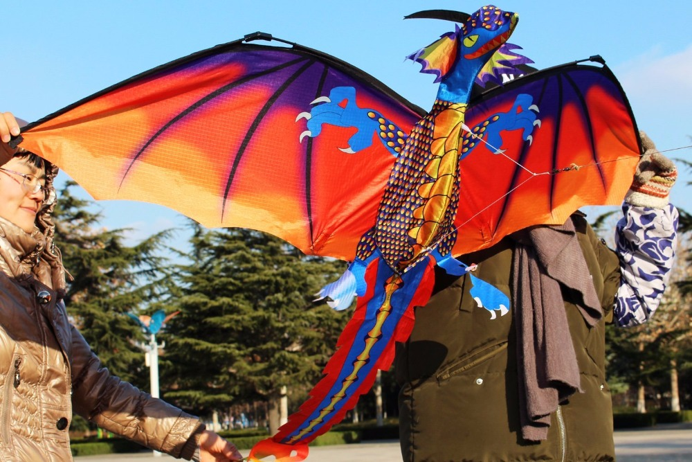New-High-Quality-Classical-Dragon-Kite-140cm-x-120cm-Single-Line-With-Tail-With-Handle-and-Line-Good-Flying-Kites-From-Hengda-4