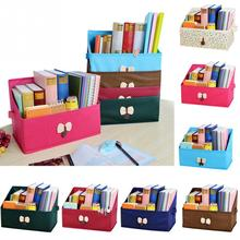Bowknot desktop storage box bookcase student book magazine desktop storage box