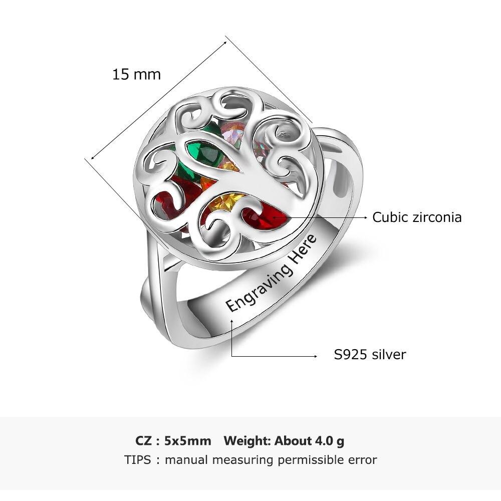 خاتم فضة بالاحجار الكريمة 3
