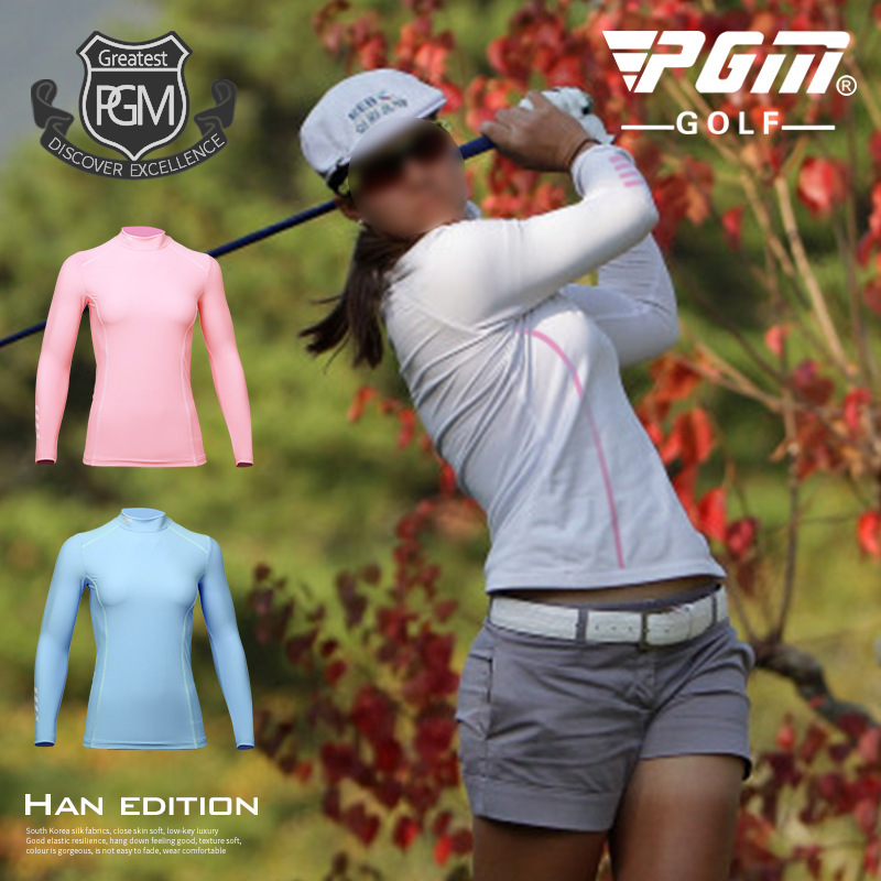 2018 PGM Womens Sunscreen T-shirt Golf Apparel Ladies Long Sleeve Tops Summer T Shirt Super Cool Ice silk blouse size S-XL