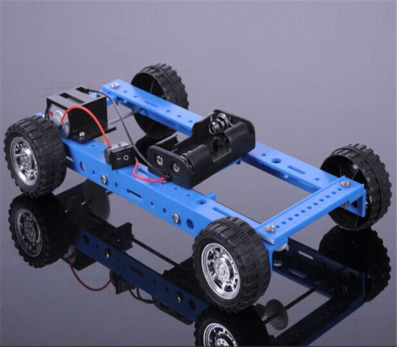 K910 Elegant DIY Model Four Wheel Drive Car DC Motor Technology Self Assemble Toys for Children and Students Free Shipping RU