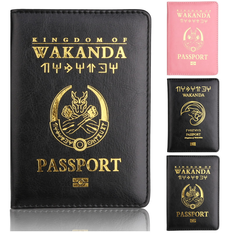 Wakanda Passport Holder Travel Accessories Women Function PU Leather Cover Storage Organizer Busines Credit ID Card Wallet Case