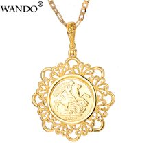 Wando Classic Big Napoleon Coin Pendant Necklaces For Women/Men Gold Color Africa Arab Coins Metal Copper Jewelry Gifts 5cm P32(China)