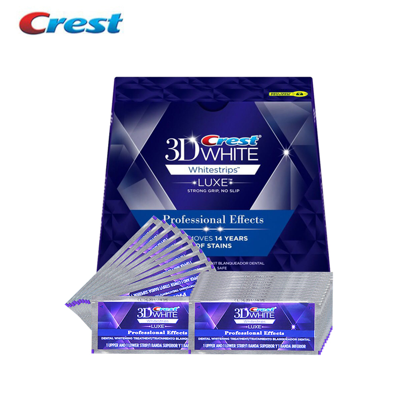 Crest 3D White Whitestrips Teeth Whitening Kit Oral Hygiene Professional Effects Dental Care Products Original 40 Strips 20Pouch crest brilliance white toothpastes tooth paste oral hygiene teeth whitening gum care dissolving polishing complex 2 pcs pack