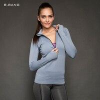 B BANG 2015 Women Professional Fitness Sports T Shirt Short Sleeved Quick Drying Tees Jogging Exercises